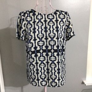 💓 ABS Platinum Women Blue white short sleeve top